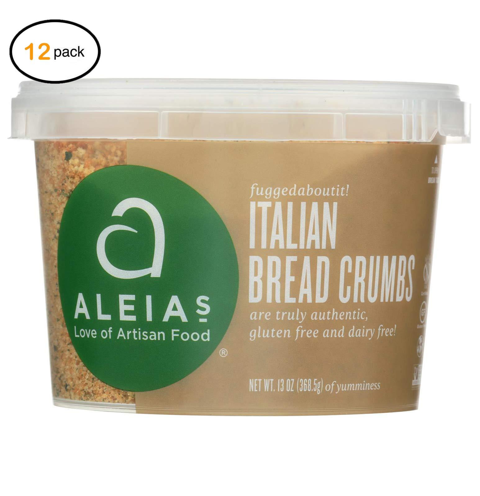 Alеia's Glutеn Frее Brеad Crumbs - Italian - Casе оf 12-13 оz. - Bulk Buy