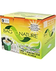 Biodegradable and Compostable Mini Kitchen Garbage Bags for Countertop Food Waste Compost Bins (by Bag-To-Nature, 100 Count)