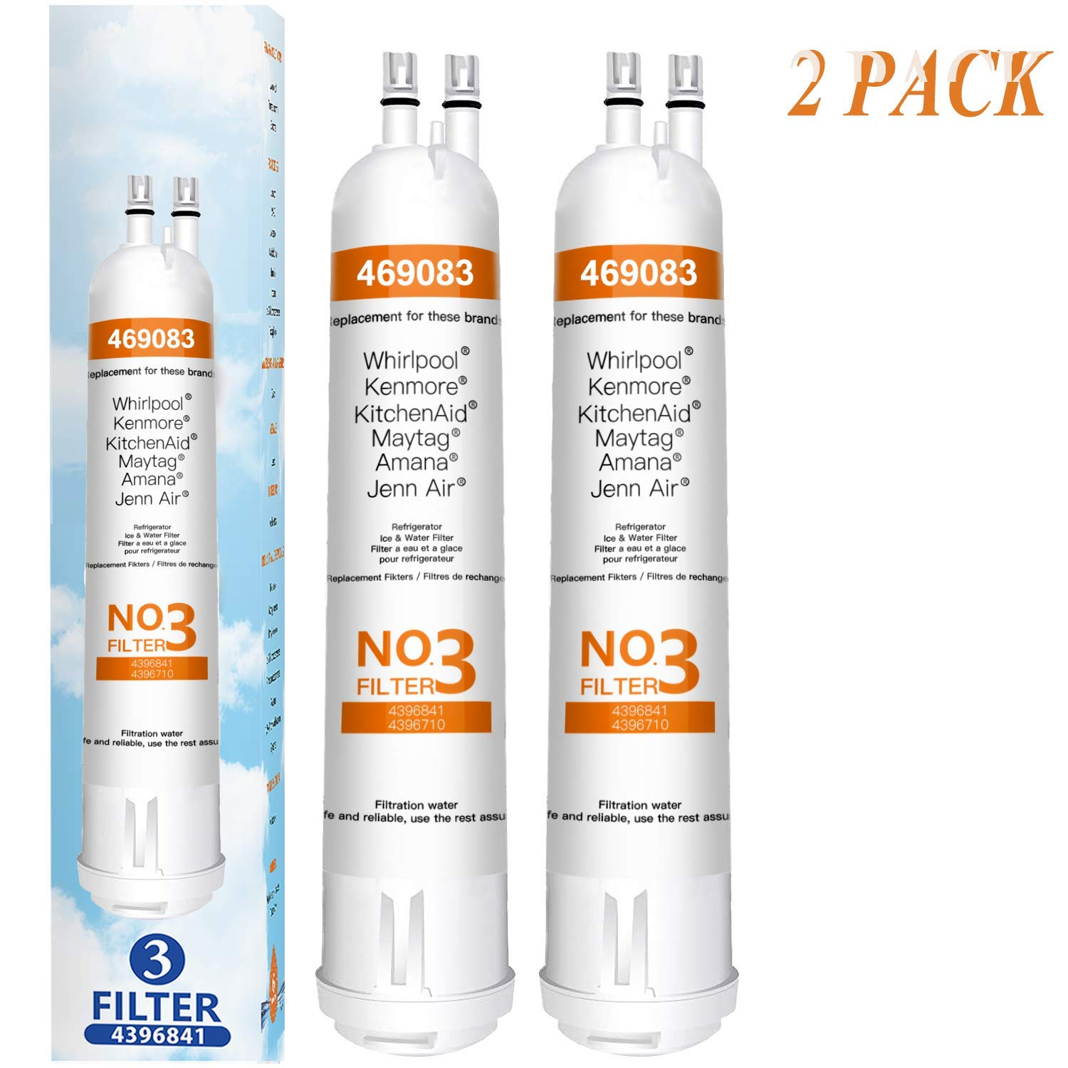 1 Pack 9083 Water Filter Replacement wf2 469083 469030 9030 Compatible with Kenmore 9083 Water Filter 3 for 469030 9030 469083 9083 Filter 3