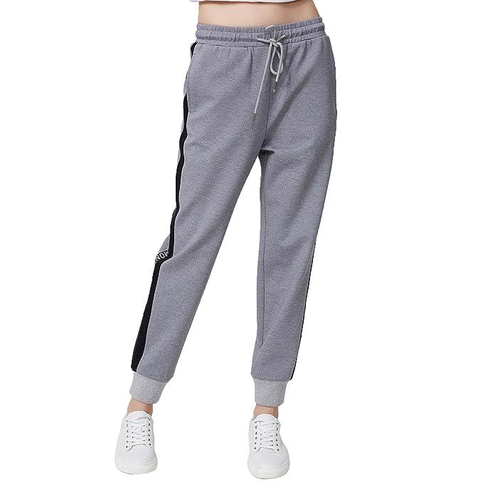 Amazon.com: Bosideng Spring Mujer Pantalones a rayas ...