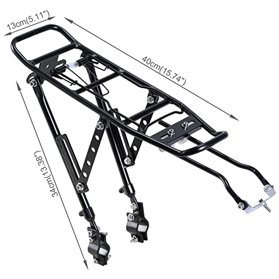 Amazon Com Voilamart Bicycle Rear Touring Carrier Rack Adjustable
