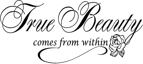 Amazoncom Quote It True Beauty Inspirational Wall Decals Quotes