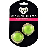 Chase 'n Chomp Amazing Squeaker Ball for Pets, 1.5-Inch, 2 Pack