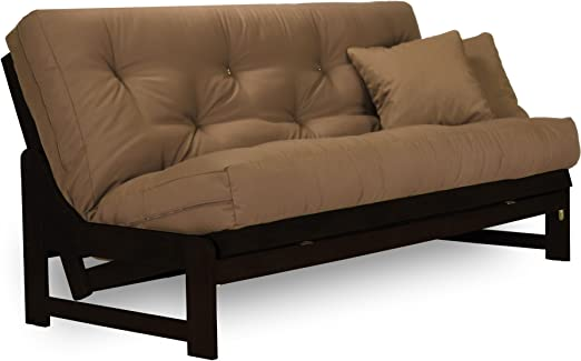 Nirvana Futons Arden Armless Dark Espresso (Near Black) Wood Futon Frame  Full or Queen Size - Solid Hardwood Sofa Bed Frame Construction, Space  Saving ...