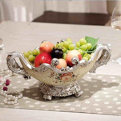 YWXG Plato de fruta de estilo europeo Decoraciones creativas living room bedroom fashion Bandeja de fruta