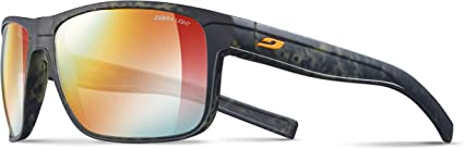 Julbo Renegade Gafas de Sol Hombre, Camo Verde/Naranja