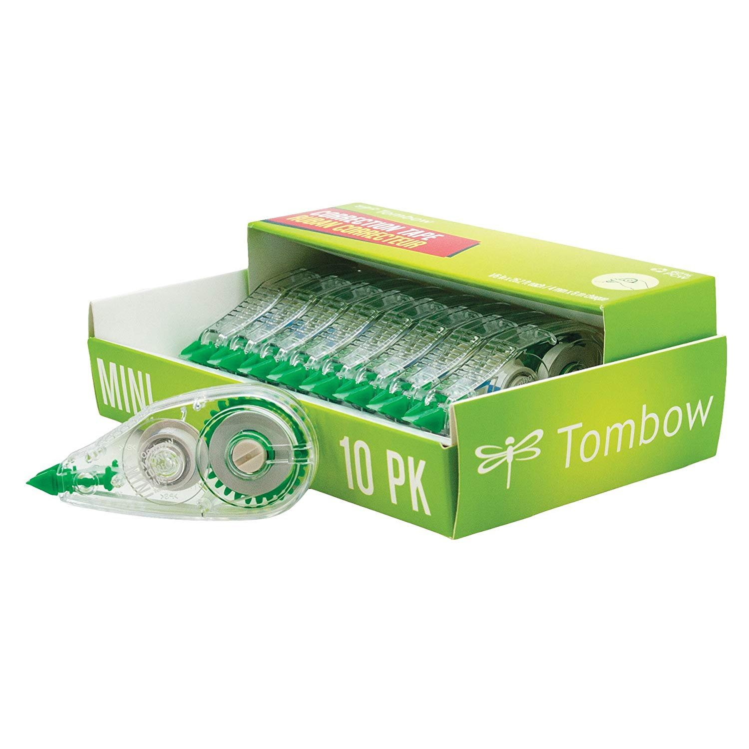 Tombow 68722 MONO Mini Correction Tape, 10-Pack. Easy to Use Applicator for Instant Corrections (3-Pack)