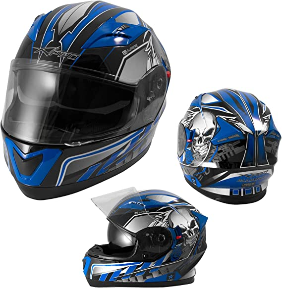 Amazon.es: A-PRO SRL casco Integral ECE 22 – 05 para moto y Scooter visera parasol antiarañazos gráfica 53-54 cm (XS) turquesa