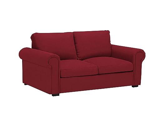 Windsor & Co - Sofá Hermes, 2 plazas, Rojo, 180 x 104 x 85 ...