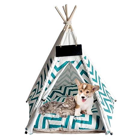 ANPI Tienda de Campaña para Mascotas, Cama Plegable Tipi ...
