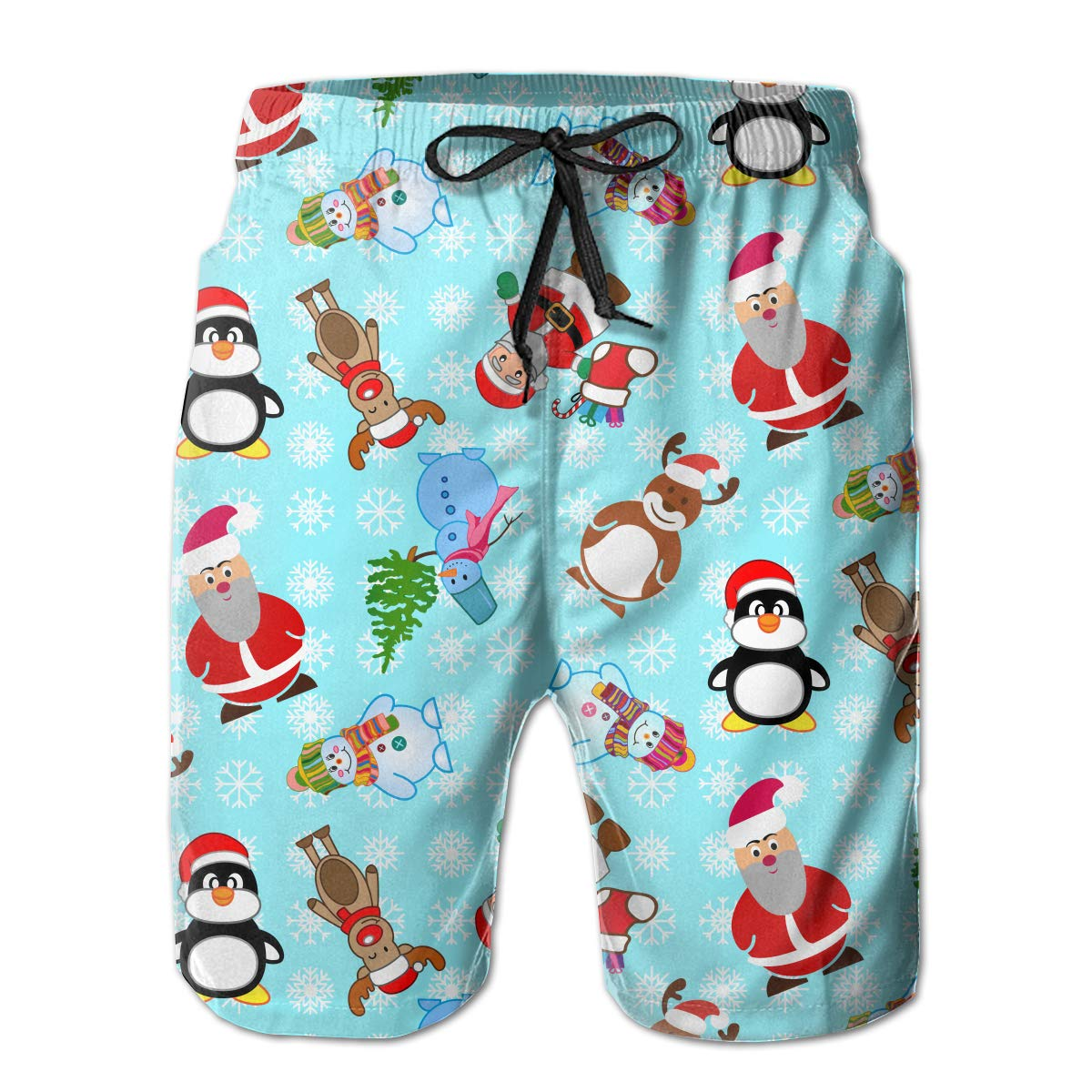 MIPU SHANGMAO Mens Penguin Summer Beach Shorts Leisure Quick Dry Swimming Pants