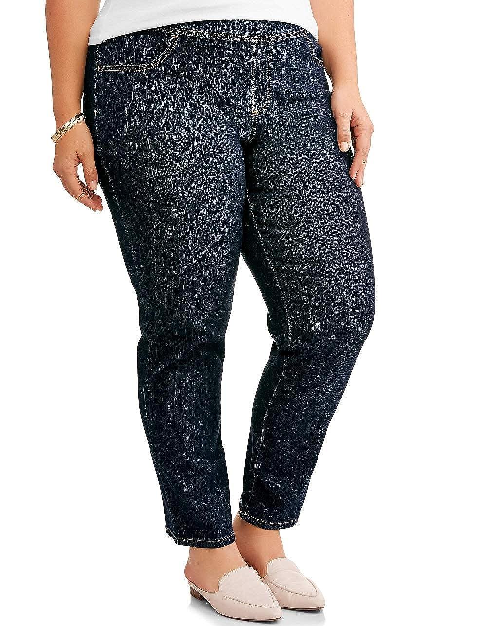 Terra /& Sky Womens Plus Petite Size Pull On Pant Blue