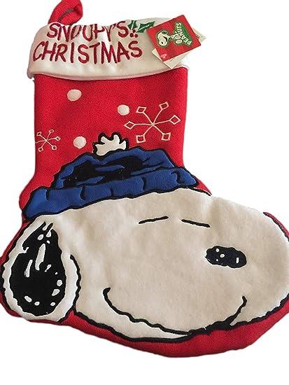 peanuts snoopys christmas stocking - Snoopy Christmas Stocking