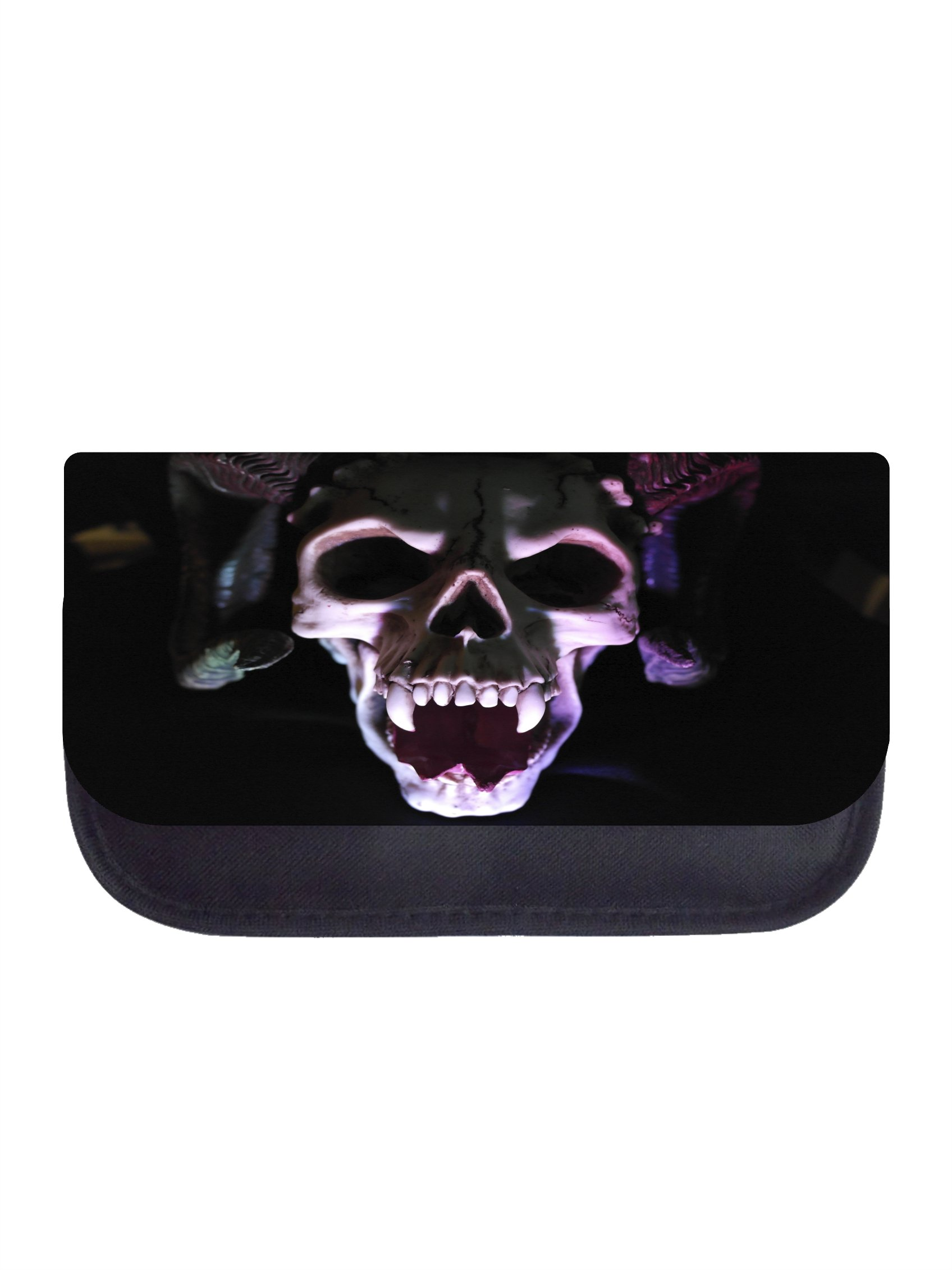 Freaky Fanged Skull - Black Pencil Case - Pencil Bag