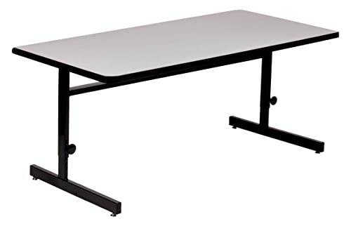Correll 24 x36 Adjustable Height Training Computer Tables, Gray Granite High Pressure Laminate, Computer Work Station CSA2436-15