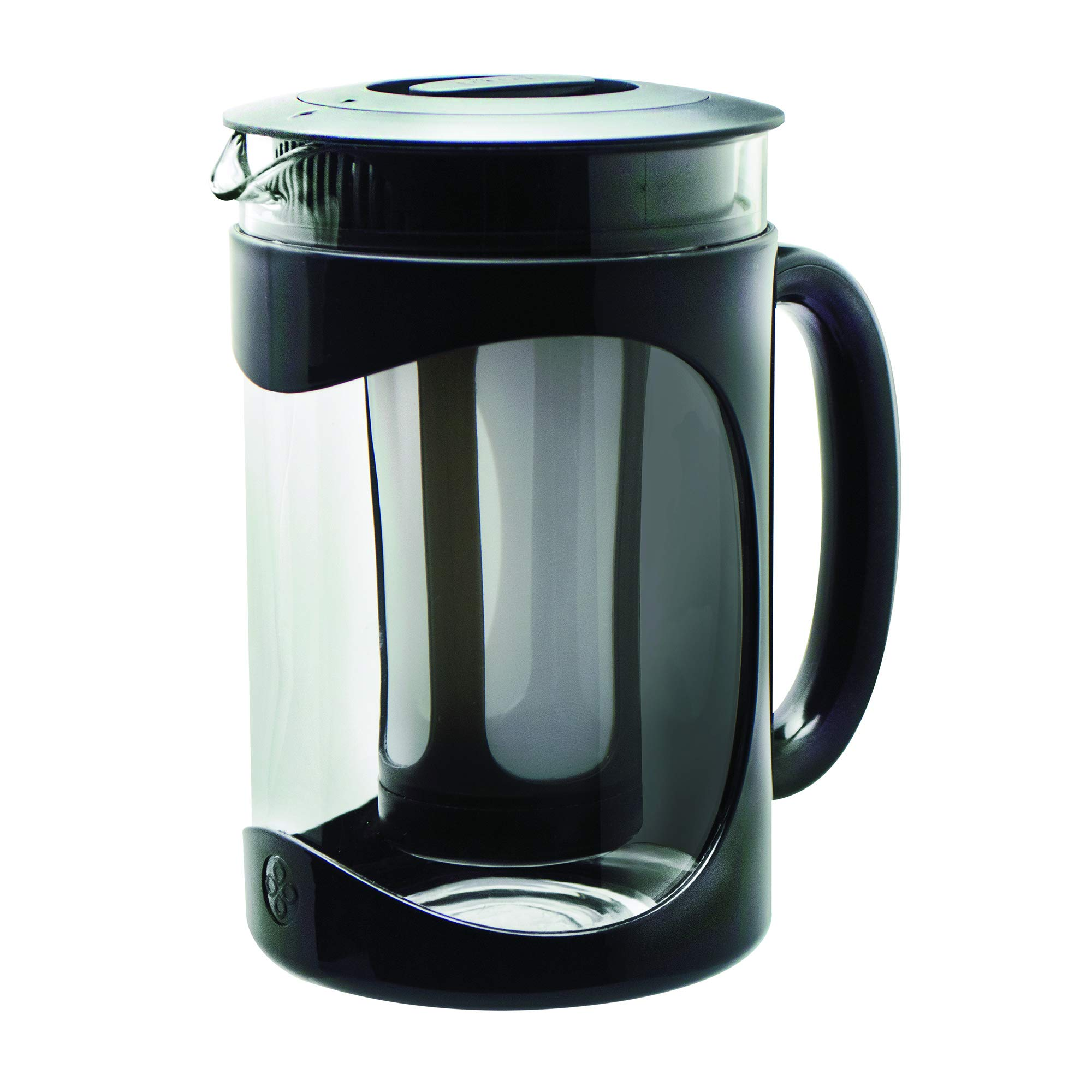 Primula PBPBK-5101 Burke Deluxe Cold Brew Iced Coffee Maker, Comfort Grip Handle, Durable Glass Carafe, Removable Mesh Filter, Perfect 6 Cup Size, Dishwasher Safe, 1.6 Qt, Black by Primula
