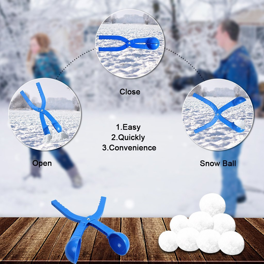 edealing Winter Snowball Maker Toy, Perfect Outdoor Play Snow Toys Kids Red & Blue - 2 Pack (Style 1) by edealing (Image #3)