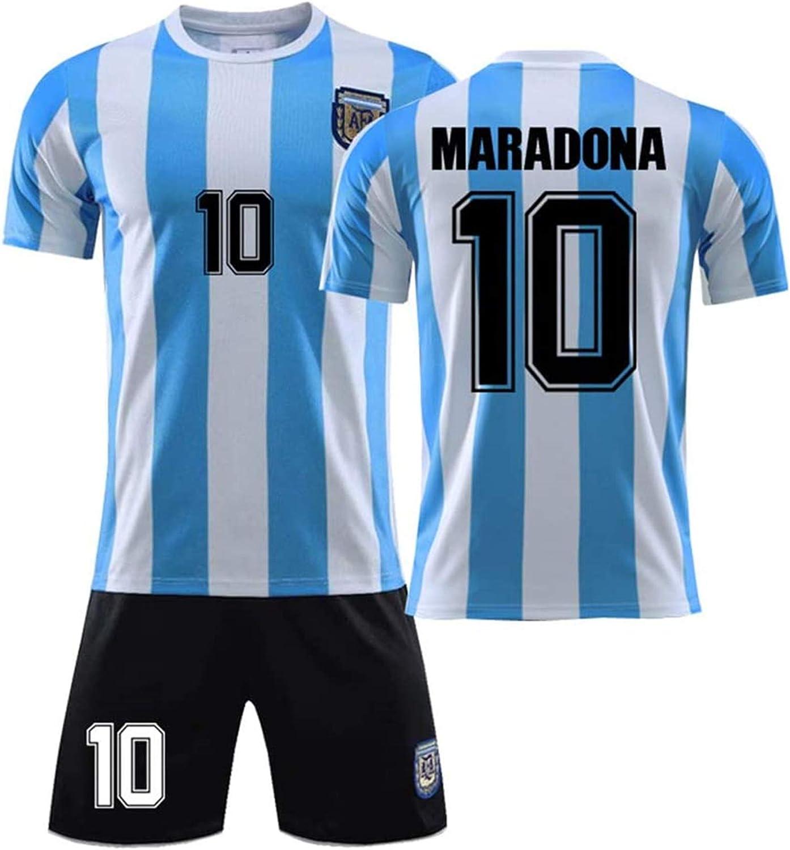ZB TOP Diego Armando Maradona Maglia da Calcio Numero # 10 da Uomo per Adulti Home/Away Coppa del Mondo Manica Corta e Pantaloncini, Fútbol Club ...