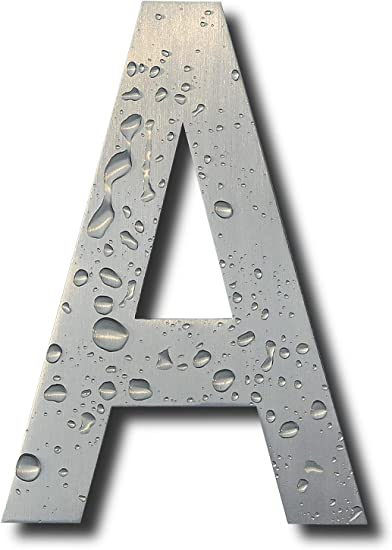 Number 5 Earl Diamond Modern House Number 6 Inch Floating Appearance Home Address Numerals Sign Made of Solid Brushed Stainless Steel and Easy to Install