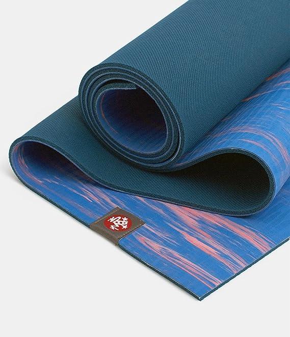 Eko - Alfombrilla de yoga 5 mm azul rosa - Manduka: Amazon ...