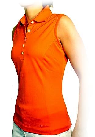 c2c648fe08 Nike Women's Tech Pique Sleeveless Golf Polo Shirt, Team Orange ...