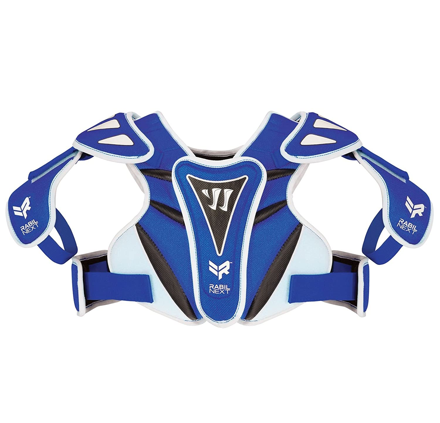 Youth X-Small Brine-Warrior Lacrosse RBNXTSP WARRIOR Rabil Next Shoulder Pads Royal Blue