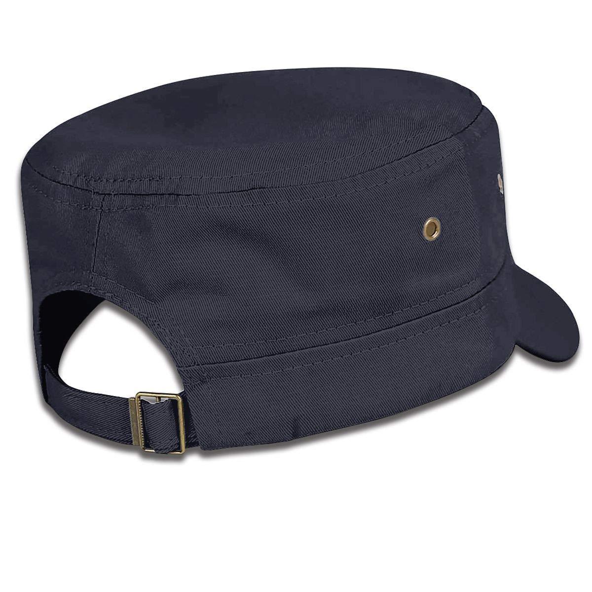Mermaids Unisex Adult Cotton Military Army Cap Flat Top Hat