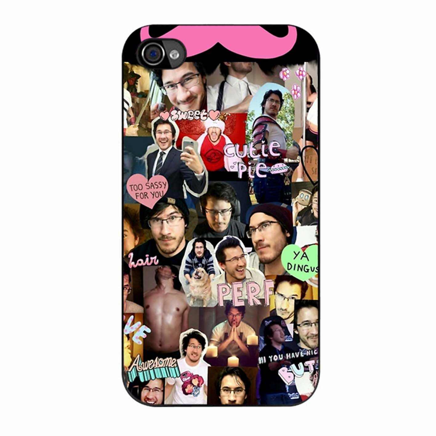 competitive price bdb7b ff939 Markiplier Tumblr Collage iPhone 4 Case: Amazon.co.uk: Electronics