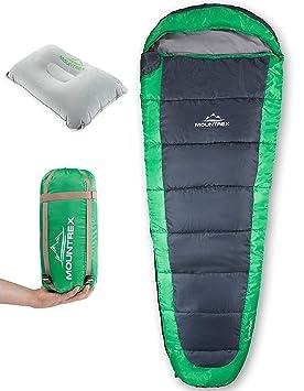 Saco de Dormir MOUNTREX® - Ultraligero y Compacto (850g) | Saco de Dormir de Verano para ...