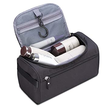 8181a372a0 Amazon.com   Hanging Travel Toiletry Bag for Men and Women Waterproof Dopp  Kit Packing Organizer for Travel Essentials Bathroom Shower Bags with Hook    ...