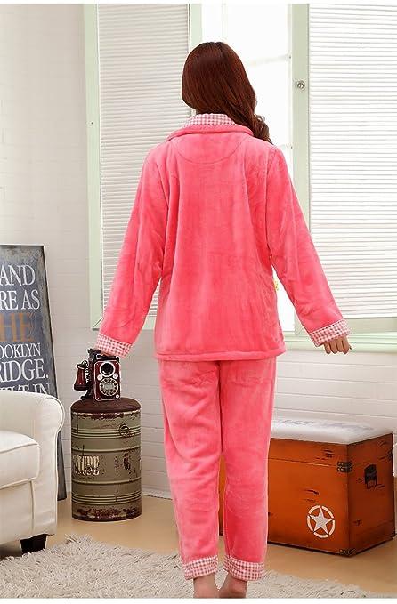 Amazon.com: MH-RITA Flannel Thick Pyjamas Women Coral Fleece Warm Autumn Winter Female Pajama Plus Size Pijamas Mujer Casual Pajamas For Women ,Watermelon ...