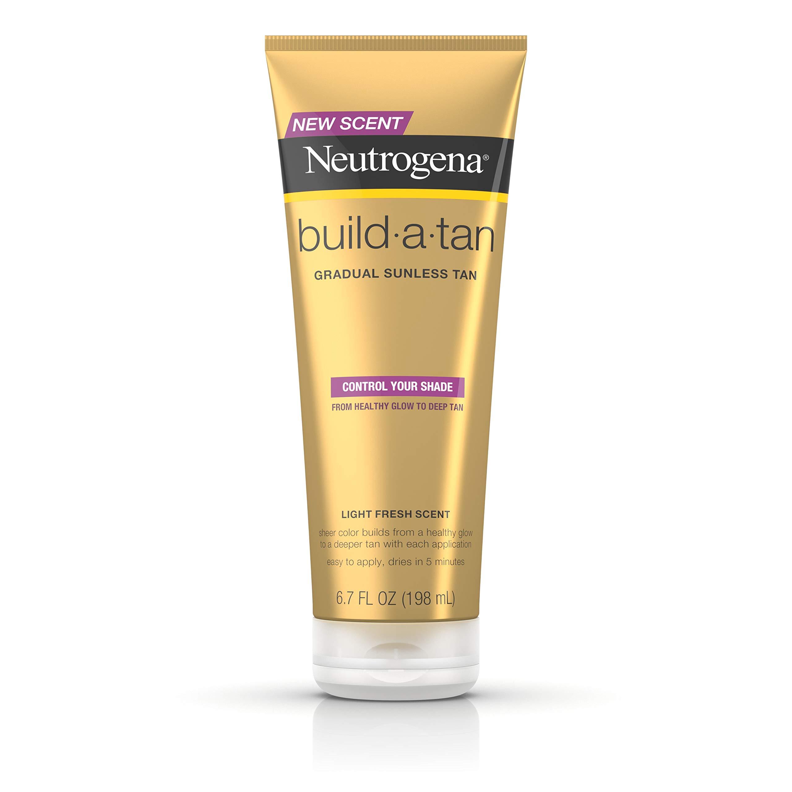 Neutrogena Build-A-Tan Gradual Sunless Tanning Lotion, Lightweight Self-Tanning Body Lotion for a Healthy Glow or Deep Tan, 6.7 fl. oz