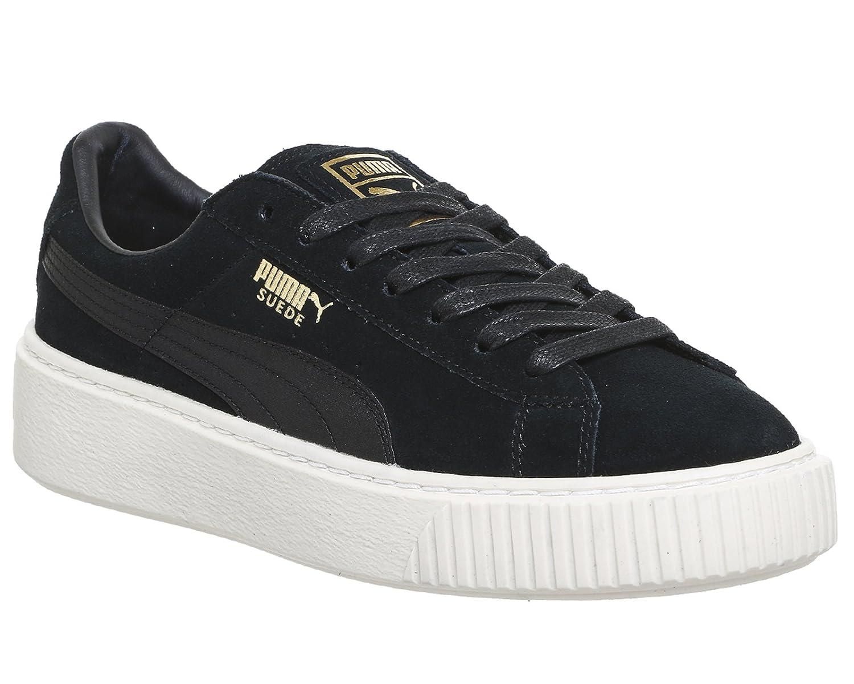 Puma Damen Sneakers Suede Platform Mono Satin  40.5 EU|Schwarz