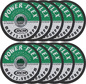"100 Pack 4-1//2/"" x 1//16/"" x 7//8/"" Cut-Off Wheels Metal Stainless Steel Cutting Disc"