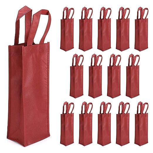 Amazon.com: Hipiwe 15 paquetes de bolsas de vino, no tejidas ...