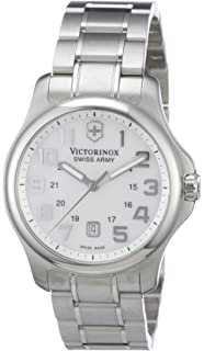 Victorinox Swiss Army Womens Officers Swiss Quartz Stainless Steel Casual Watch, Color: