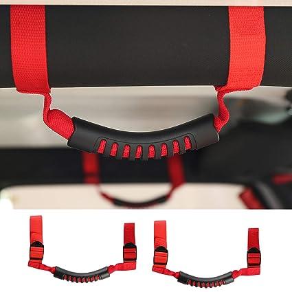 Red Unlimited Roll Bar Grab Grip Handles 4pcs//set fits Jeep Wrangler JK TJ CJ YJ