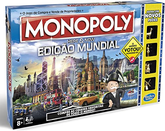Monopoly Hasbro Gaming - Juego en Familia Edición Mundial (B2348521) (versión Portuguesa): Amazon.es: Juguetes y juegos