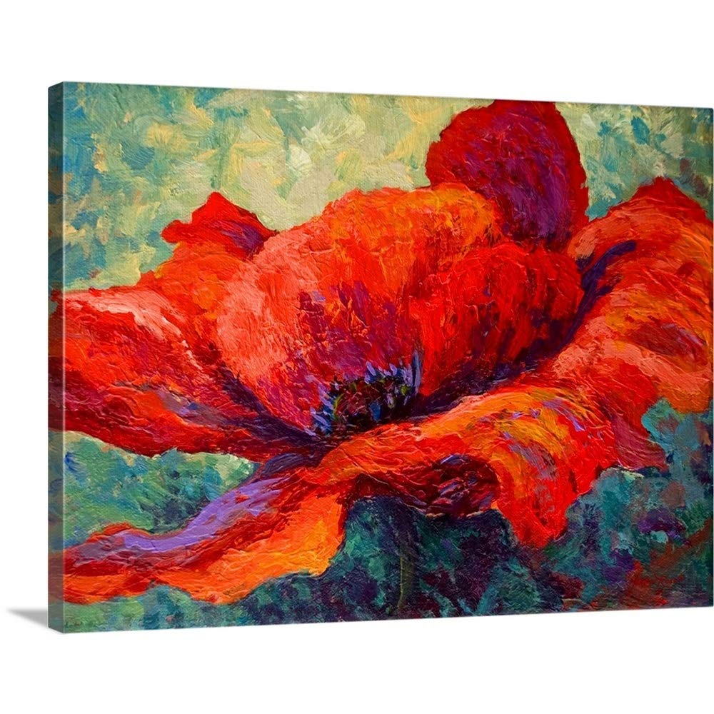 Marionローズプレミアムシックラップキャンバス壁アート印刷題名Red Poppy III 40