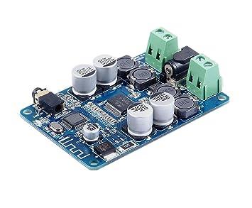 DollaTek Bluetooth CSR4.0 Amplificador de Potencia de tableros de partículas TDA7492P 25W + 25W estéreo Bluetooth Receptor de Audio Digital de Potencia ...