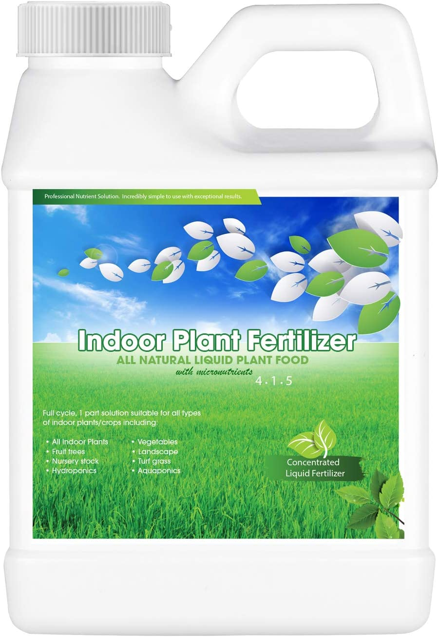 All Natural Indoor Plant Food, All-Purpose House Plant Fertilizer, Concentrated Liquid Houseplant Fertilizers for Potted Planting Soil, Coco, Aquaponics 8 oz