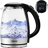 Electric Tea Kettle Temperature Control with 4 Colors Led Light Hot Water Glass Pot Variable Fast Heating Auto Shut off…