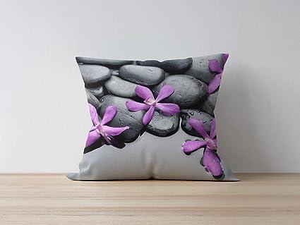 Funda para cojín funda de almohada de flores de Zen 30 x 30 ...