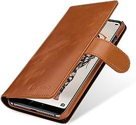 StilGut Talis Case Portafoglio, Custodia in Vera Pelle Cover per Huawei P20 PRO con Chiusura Magnetica