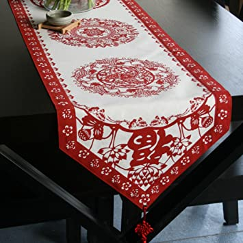 Chinesische Baumwolle Tischläufer/ Tischtuch/ Mode-Tuch/ nach Hause ...