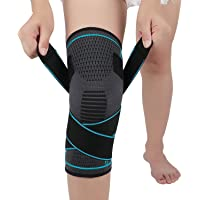 NTRH Sport kniesteun voor mannen en vrouwen verstelbare kniebrace compressie kniemouwen voor hardlopen, squats (enkel)