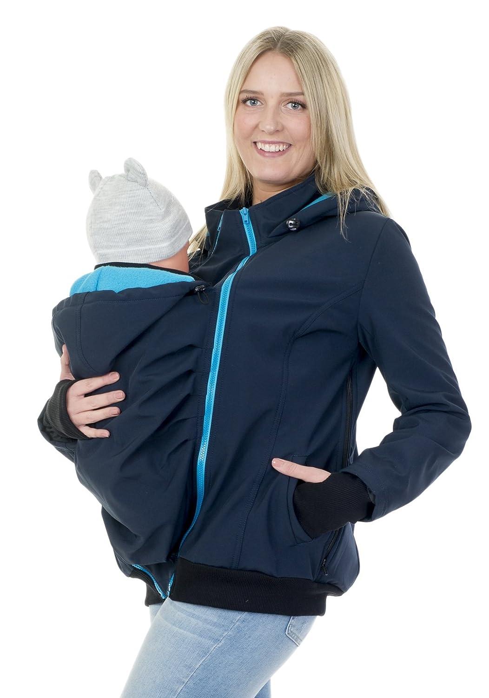 Divita 3in1 Tragejacke für Tragetuch Babytrage Umstandsjacke Softshell Allwetter Mama Baby D58