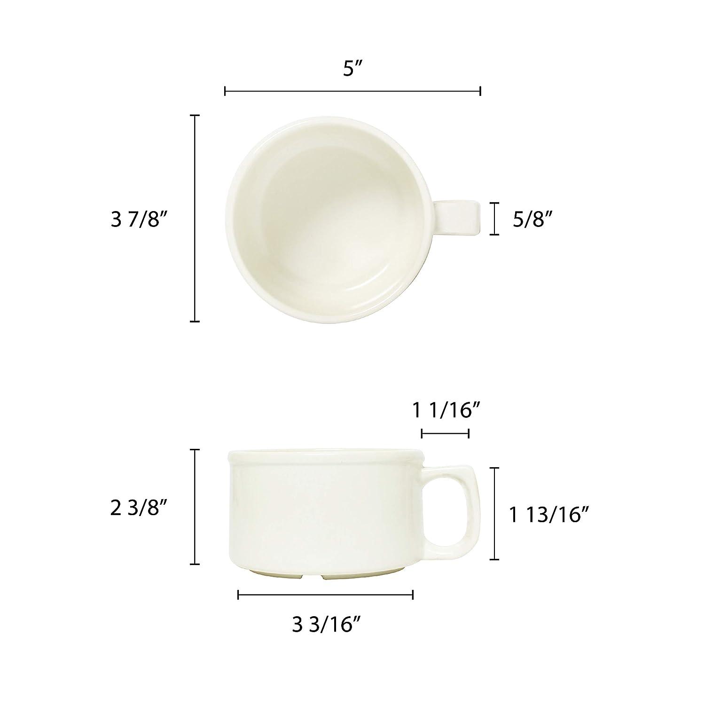 Amazon.com: Restaurant Essentials Color ivory melamine ...