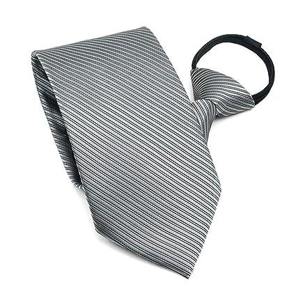 Corbata con cremallera, 10 cm, estilo de negocios, color plateado ...