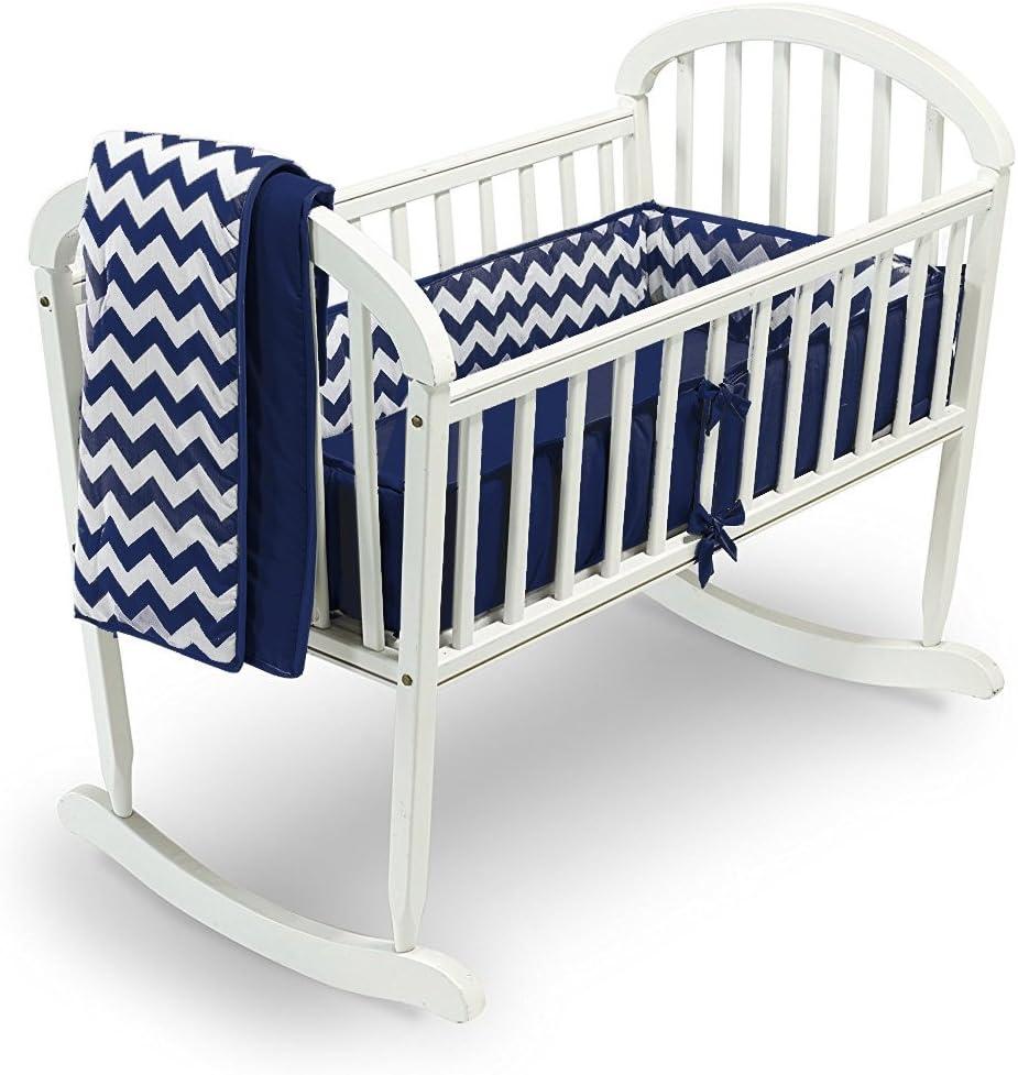 18 x 36 Pink Babykidsbargains Chevron Cradle Bedding